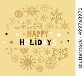 template  christmas  card with... | Shutterstock .eps vector #499763971