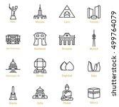 kiev  warsaw  cairo  toronto ... | Shutterstock .eps vector #499764079