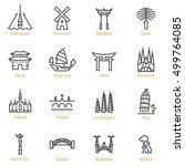 petersburg  amsterdam  bangkok  ... | Shutterstock .eps vector #499764085
