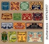 vector vintage items  label art ... | Shutterstock .eps vector #499765957