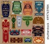 vector vintage items  label art ...   Shutterstock .eps vector #499765984