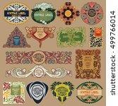 vector vintage items  label art ... | Shutterstock .eps vector #499766014