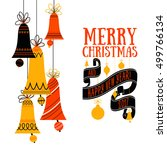 vector christmas greeting card | Shutterstock .eps vector #499766134
