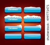 glossy blue christmas web... | Shutterstock .eps vector #499771471