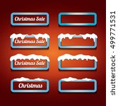 glossy blue christmas web... | Shutterstock .eps vector #499771531