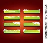 green christmas web buttons set.... | Shutterstock .eps vector #499781065