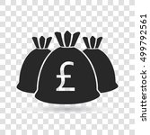 money bag currency pound icon... | Shutterstock .eps vector #499792561