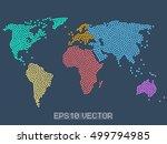 dotted world map  stock vector... | Shutterstock .eps vector #499794985