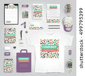 corporate identity stationery... | Shutterstock .eps vector #499795399
