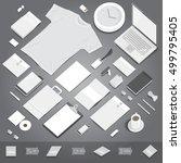 corporate identity stationery... | Shutterstock .eps vector #499795405