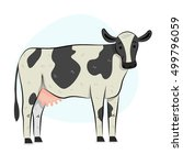 cow illustration | Shutterstock .eps vector #499796059