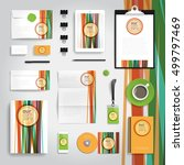 corporate identity stationery... | Shutterstock .eps vector #499797469