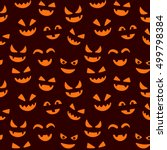 happy halloween seamless... | Shutterstock .eps vector #499798384