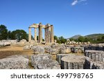 Small photo of The temple of Zeus in the ancient Nemea archeological site, Peloponnese, Greece