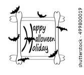 dark colorful halloween vector... | Shutterstock .eps vector #499800019