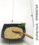 green sprouts buckwheat | Shutterstock . vector #499800769