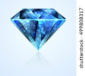 bright jewelry faceted blue... | Shutterstock .eps vector #499808317