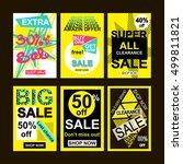 social media banners for online ... | Shutterstock .eps vector #499811821