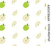 seamless green apple pattern on ...   Shutterstock .eps vector #499819399