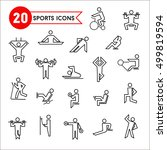 set of 20 contour sports icons. ...   Shutterstock .eps vector #499819594