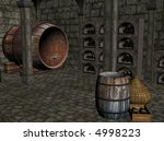 3d illustration of a wine cellar | Shutterstock . vector #4998223