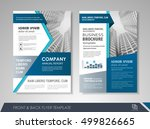 front and back page annual... | Shutterstock .eps vector #499826665