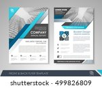 front and back page annual... | Shutterstock .eps vector #499826809
