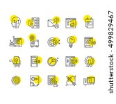 line icons. thin icons. flat...
