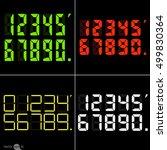 set of calculator digital...   Shutterstock .eps vector #499830364