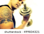 healthy life and gym exercise... | Shutterstock . vector #499834321