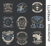 motorcycle typography set  t... | Shutterstock .eps vector #499834771