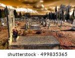 churchyard and christian... | Shutterstock . vector #499835365