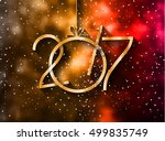 2017 happy new year background... | Shutterstock .eps vector #499835749