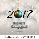 2017 happy new year background... | Shutterstock .eps vector #499835851