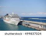 Luxury Cruise Ship Docked In...