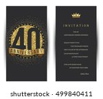 40th anniversary decorated... | Shutterstock .eps vector #499840411