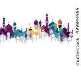 arabic islam calligraphy...   Shutterstock .eps vector #499844989