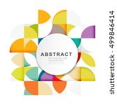 abstract geometric pattern... | Shutterstock .eps vector #499846414