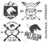 ski club concept. vector ski... | Shutterstock .eps vector #499848349