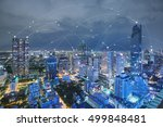 blue high tech tone of... | Shutterstock . vector #499848481