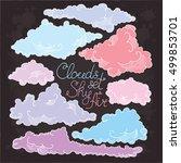 cloud set sky air. clouds... | Shutterstock .eps vector #499853701