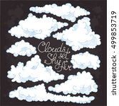 Clouds Doodle. Clouds Hand...