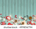 christmas background  small... | Shutterstock .eps vector #499856794