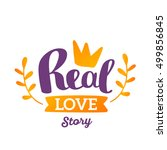 real love story   orange and... | Shutterstock .eps vector #499856845