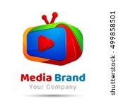 tv service logo template... | Shutterstock .eps vector #499858501