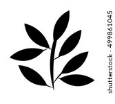leafs plant decoration isolated ...   Shutterstock .eps vector #499861045
