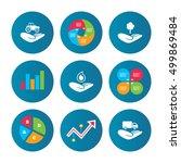 business pie chart. growth... | Shutterstock .eps vector #499869484