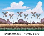 cartoon vector nature landscape ...