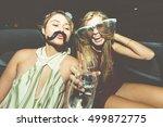 party girls celebrate in... | Shutterstock . vector #499872775