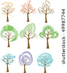 trees with crowns different... | Shutterstock .eps vector #49987744